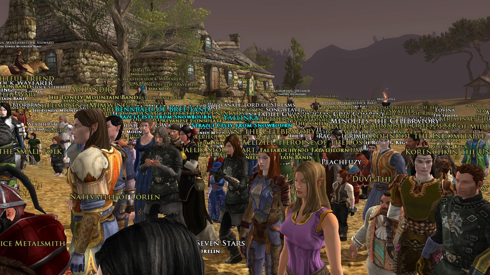 Začiatok akcie pri Forsaken Inn