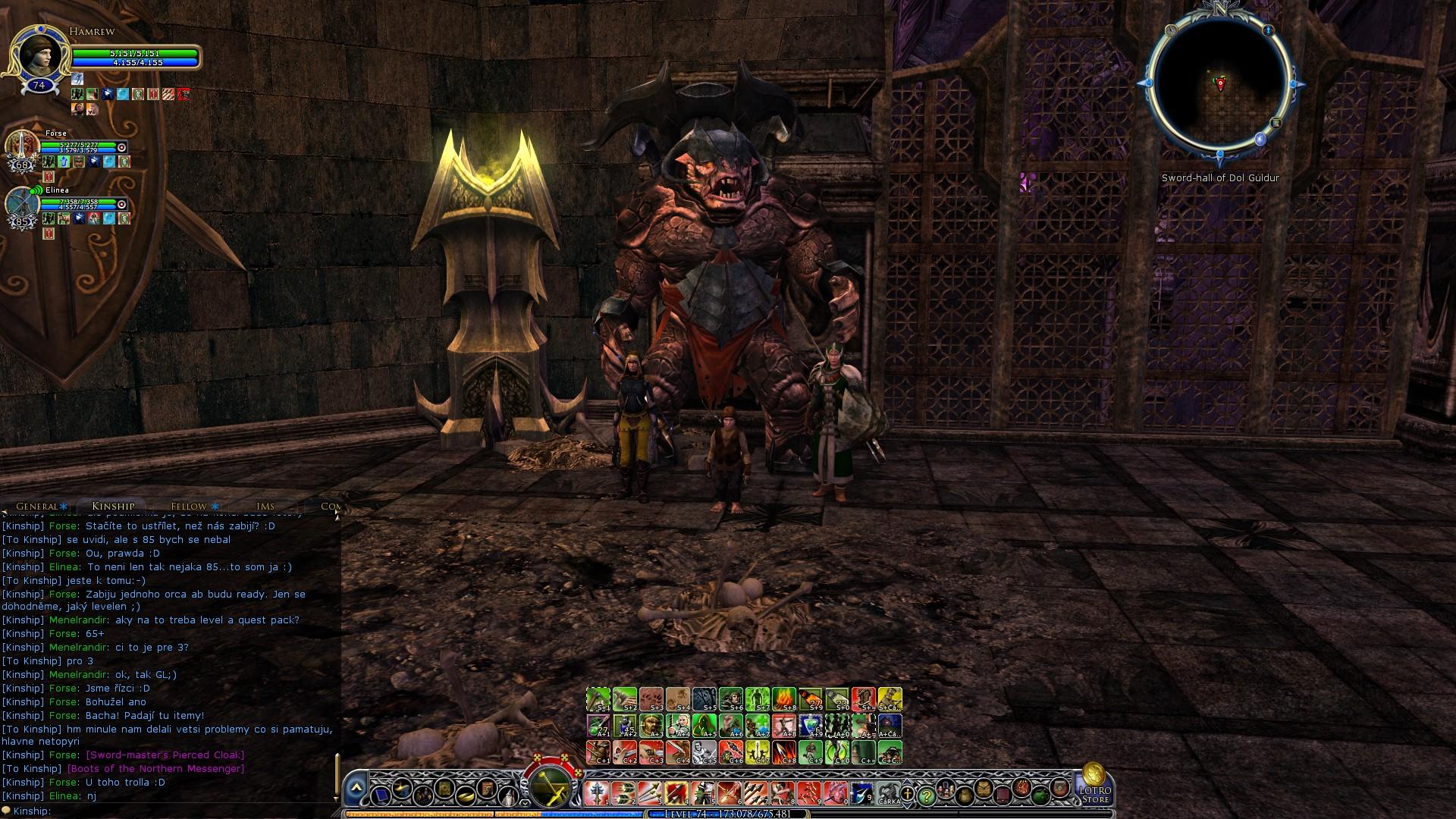 Sword-hall of Dol Guldur
