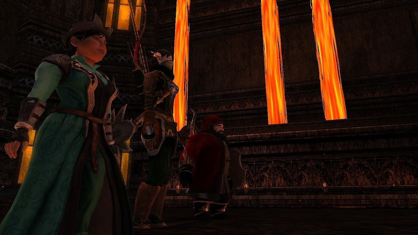 hobbitka, elfka a dwarf v Foundry