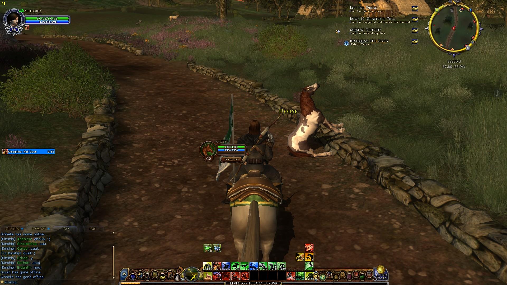 I kůň si potřebuje občas oddechnout:)